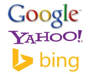 Search Engine Logos - Bing, Yahoo & Google