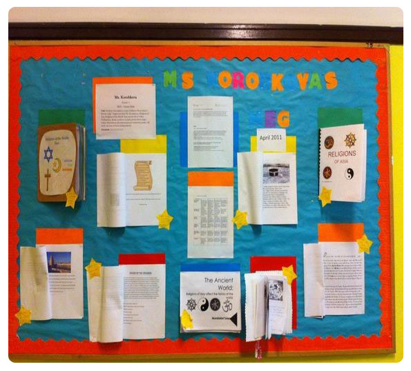 Example Classroom Noticeboard (courtesy: http://mariya2387.wikispaces.com/)