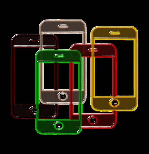 Overlapping smartphones